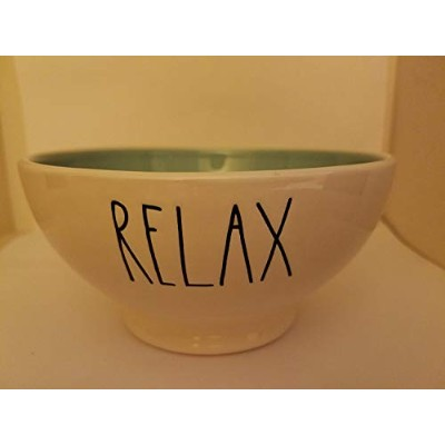 Relax bowl with blue interior by Rae Dunn