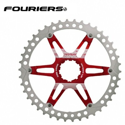 FOURIERS MTB スプロケット42T レッド (DX008-SK-423) 10600053
