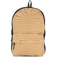 Cabas contrast panel backpack - ブラウン