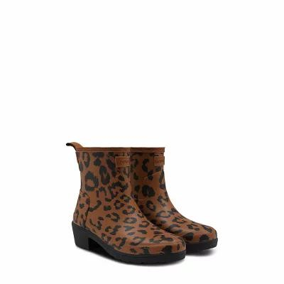 ハンター HUNTER レインシューズ・長靴 Original Leopard Print Refined Chelsea Rain Boot Thicket