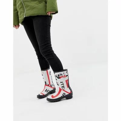 ハンター Hunter レインシューズ・長靴 Exploded Logo Original Short Wellington Boots Exploded logo