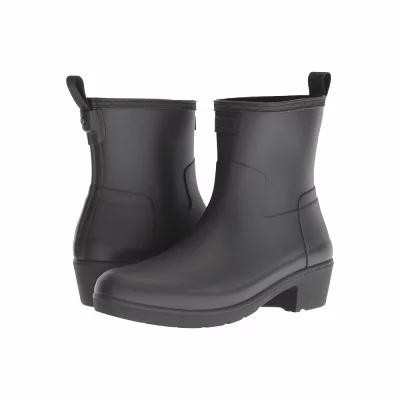 ハンター Hunter レインシューズ・長靴 Refined Low Heel Ankle Biker Rain Boots Black