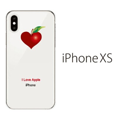 Plus-S iPhone xs ケース iPhone xs max ケース iPhone アイフォン ケース アップルハート I Love Apple /iPhone XS iPhone X...