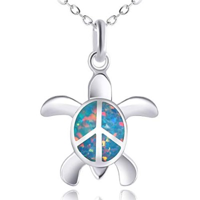 (Mix Color C) - KELITCH Initial Choker Necklace Synthetic Opal Extension Small Sideways Cross First...