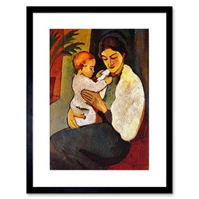 Macke Mother Child Old Master Picture Framed Wall Art Print オールドマスター画像壁