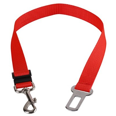 Walgap(tm) Car Vehicle Auto Safety Seat Belt for Dog Pet (7 Color) (Red) by WalGap
