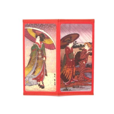 Japanese Rice Paper Wallet雨と雪の日