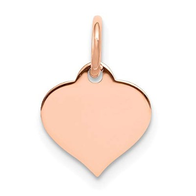 14 KローズゴールドSmall Engravable Heart Disc Charm