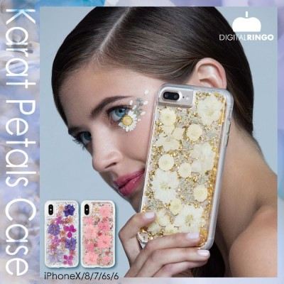送料無料 iPhoneX/8/7/6s/6 Karat Petals Case iphone キラキラ iphone8 押し花 iphone7 押し花 iphone6s 押し花 iphone7...