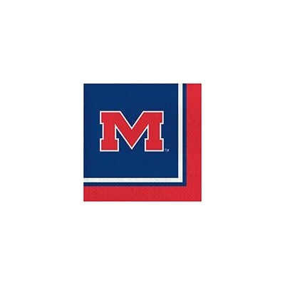 クラブパックの240 NCAA Ole Miss Rebels 2-ply Tailgating Party Lunch Napkins