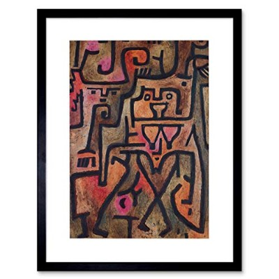 Paul Klee Forest Witch 1938 Old Master Framed Wall Art Print ポール森林オールドマスター壁