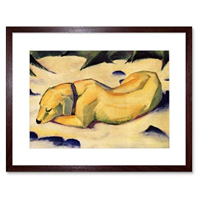 Franz Marc White Dog Old Master Art Picture Framed Wall Art Print オールドマスター画像壁