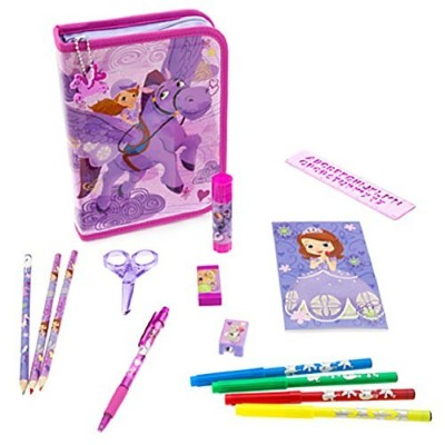Disney Store Sofia the First StationaryアートケースキットSchool Supplies