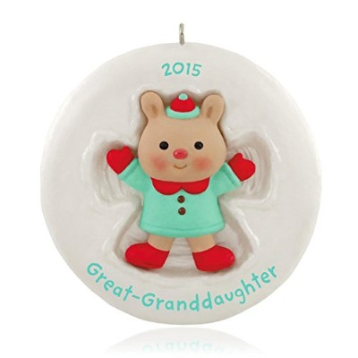 great-granddaughter Cute Little Bear Ornament 2015ホールマーク