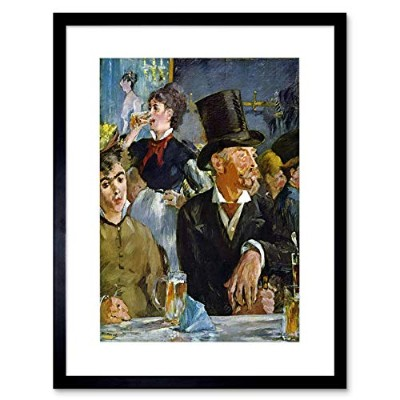 Manet Cafe Concert Old Master Framed Wall Art Print カフェコンサートオールドマスター壁