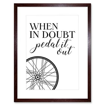 Bike Quote When In Doubt Pedal It Out In Framed Wall Art Print 自転車見積もり壁