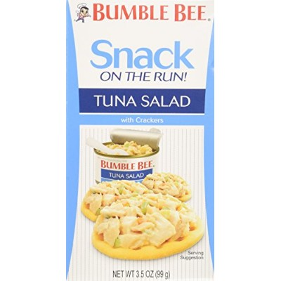 Bumble Bee Snack on the Run Tuna Salad Kit, Ready to Eat, 3.5 oz (Pack of 9) by Bumble Bee