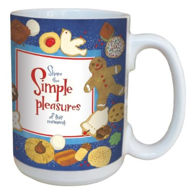 tree-free Greetings lm43447Sweet Simple Pleasures and Cookie byロビンPickens Ceramic Mug withフルサイズハンドル...