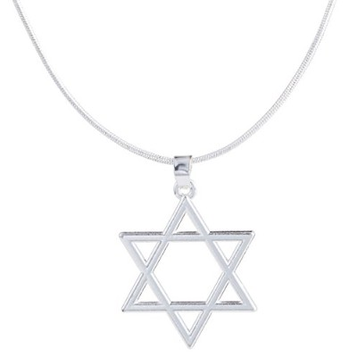 フックReligious Jewish Star of David Ethnic HexagramペンダントNeckalce