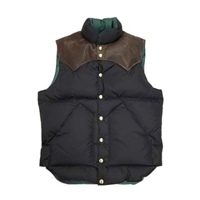 WAREHOUSE ウエアハウス × Rocky Mountain Feather Bed ロッキー マウンテン WH DOWN VEST 590 BLACK ダウンベスト コラボレーション...
