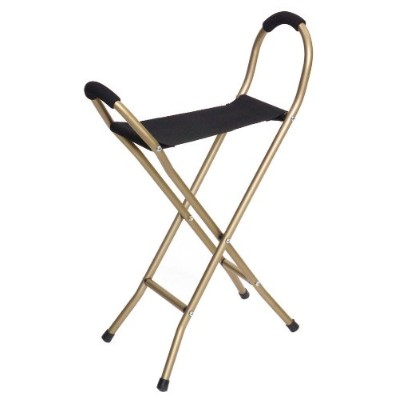 Essential Medical Supply Four leg Seat Cane by Essential Medical Supply