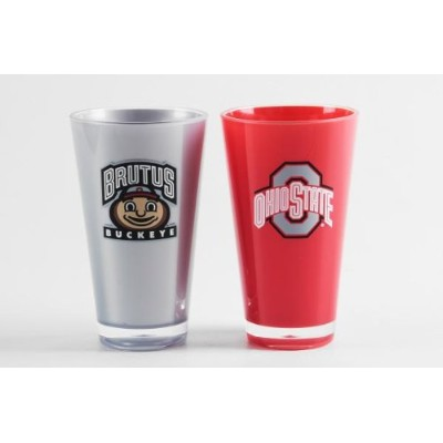 (Ohio State Buckeyes, 590ml Twin Pack Alt Colour, Ohio State Buckeyes) - Duck House NCAA unisex...