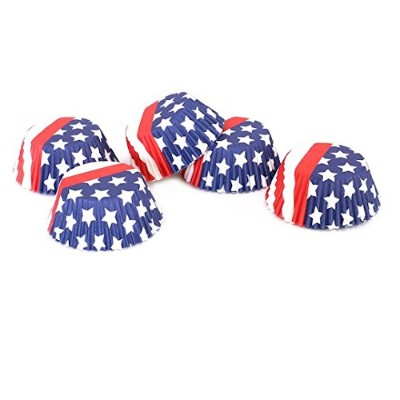 Patriotic Stars & Stripes標準Baking Cups by Celebrate It–75カウント–アメリカ国旗デザイン
