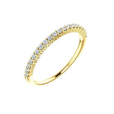 Beautiful Yellow-gold 1 Ctw Diamond Anniversary Band comes with a Free Jewelry Gift