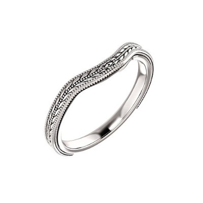 Beautiful White-gold Band comes with a Free Jewelry Gift