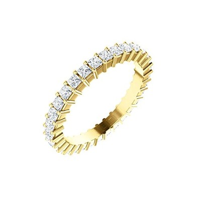 Beautiful Yellow-gold 1 1/8 Ctw Diamond Eternity Band comes with a Free Jewelry Gift