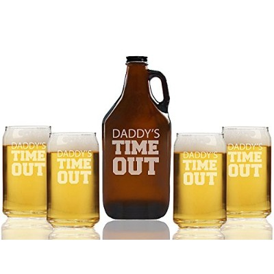 パパの時間アウトビールAmber Growler and can glasses ( Set of 5 )