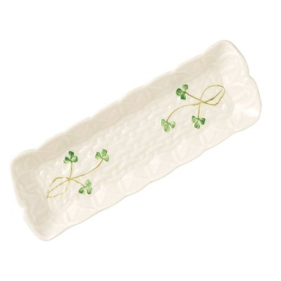 Belleek 2083 Shamrock Mint Tray