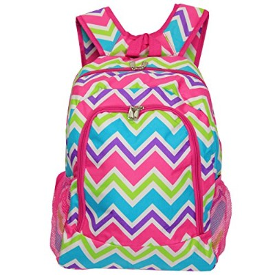 [ワールドトラベラー]World Traveler Multipurpose Backpack 16Inch, Pink Trim Chevron Multi, One Size 81BP5016...