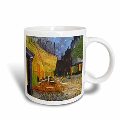 3dローズInspirationzStoreビンテージアート–Cafe Terrace at Night by Vincent Van Gogh–1888–レストランFrench...