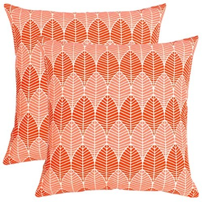 (46cm x 46cm , Orange) - BBD Pack of 2 Throw Pillow Covers Cushion Cases Cushion Covers in Cotton...