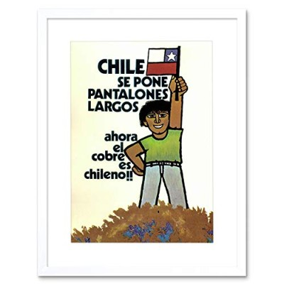 Ad Political Industry Mining Copper Flag Smile Chile Framed Wall Art Print