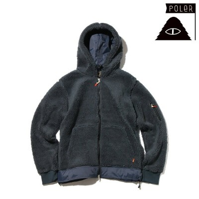 POLeR SHAGGY JACKET (BLUE) 【メンズサイズ】【17FW-I】【50】【sale0123】