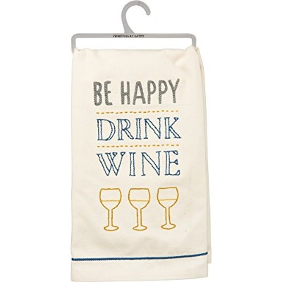 """ Be Happy Drink Wine""ディッシュタオル – 3のセット"