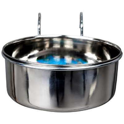 Advance Pet Products Stainless Steel Coop Cups with Hook, 10-Ounce by Advance Pet Products