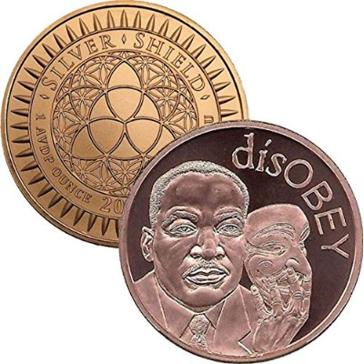 Disobey Martin Luther King ( Mini Mintage ) 1 oz .999純粋な銅ラウンド/ Challenge Coin