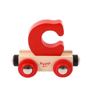 (Letter C, Colors Vary) - Bigjigs Rail Rail Name Letter C (Colours Vary)