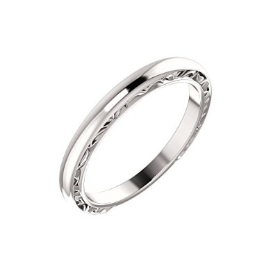 Beautiful White-gold Accented Engagement Ring or Band comes with a Free Jewelry Gift