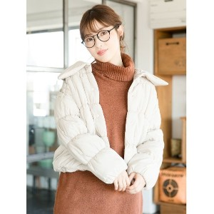 【SALE 10%OFF】グリーンパークス Green Parks シャーリング中綿ショートコート (Beige)