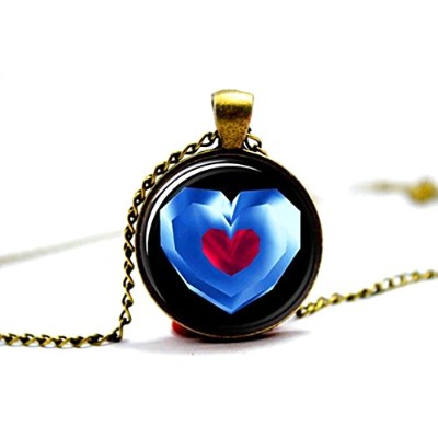 Charm Buddy Handmade Legend Of Zelda Link Heart Piece Container Cabochon Pendant Necklace