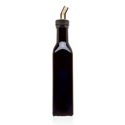 Infinity Jars 250 Ml (8.5 fl oz) Square Ultraviolet Medium Sized Glass Bottle With Plastic Spout by...