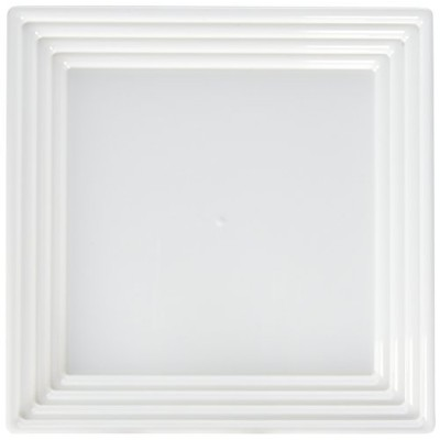 (3 Serving Trays, White) - Kaya Collection - White Plastic Serving Tray Heavyweight Square Platter...