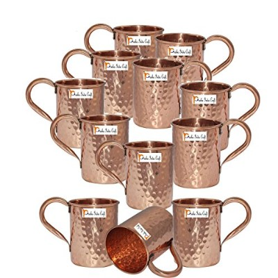 Set of 12 – PrishaインドCraft ® Copper Mug for Moscowミュール500 ml / 16.90 Oz – 100 % Pure Copper –...