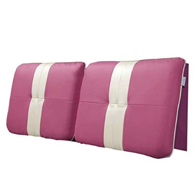 gcy Support Bed Wedge Bedside Soft Pack Bed Cushion Big Back Double Bed Leather Pillow Bed Cover...
