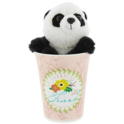 """Dicksons """" So Thankful for You """"マグバンドルwith Aurora Plush Panda 13 Ounce, 4.5""""H x 4.5""""L x 3.5""""W ピンク"""