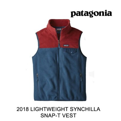 2018 PATAGONIA パタゴニア ベスト LIGHTWEIGHT SYNCHILLA SNAP-T VEST SNBL STONE BLUE